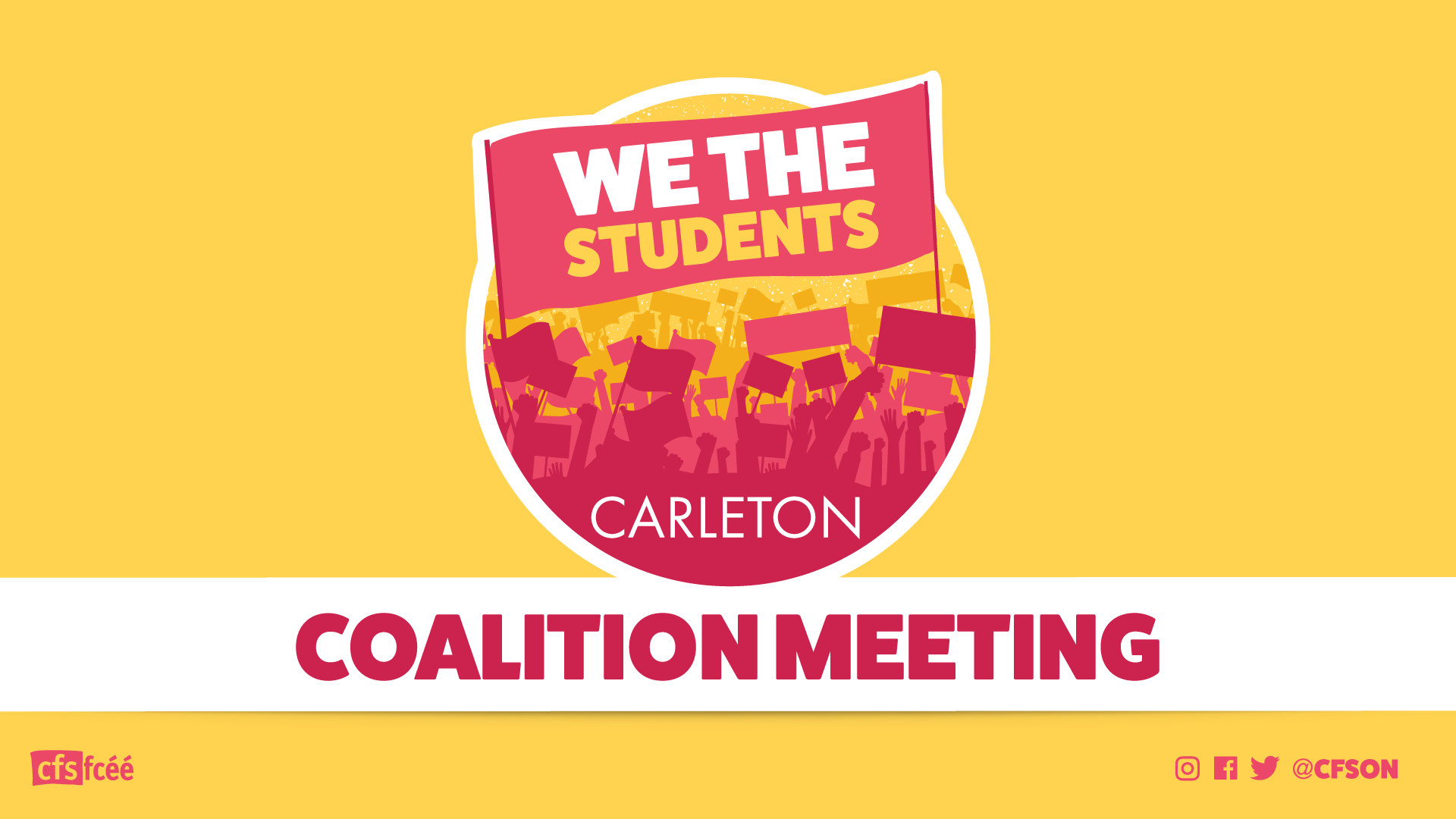 Carleton University Campus Coalition Meeting: March 14th